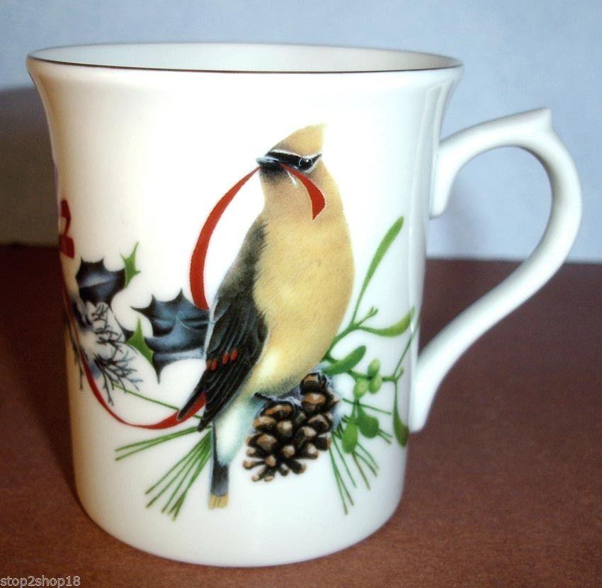 Lenox winter greetings accent mug cedar and 50 similar items lenox winter greetings accent mug cedar waxwing dark eyed junco bird new m4hsunfo