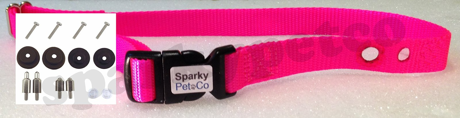 "Sparky PetCo PetSafe Compatible RFA-41 1"" Raspberry Pink Color Dog Replacemen..."