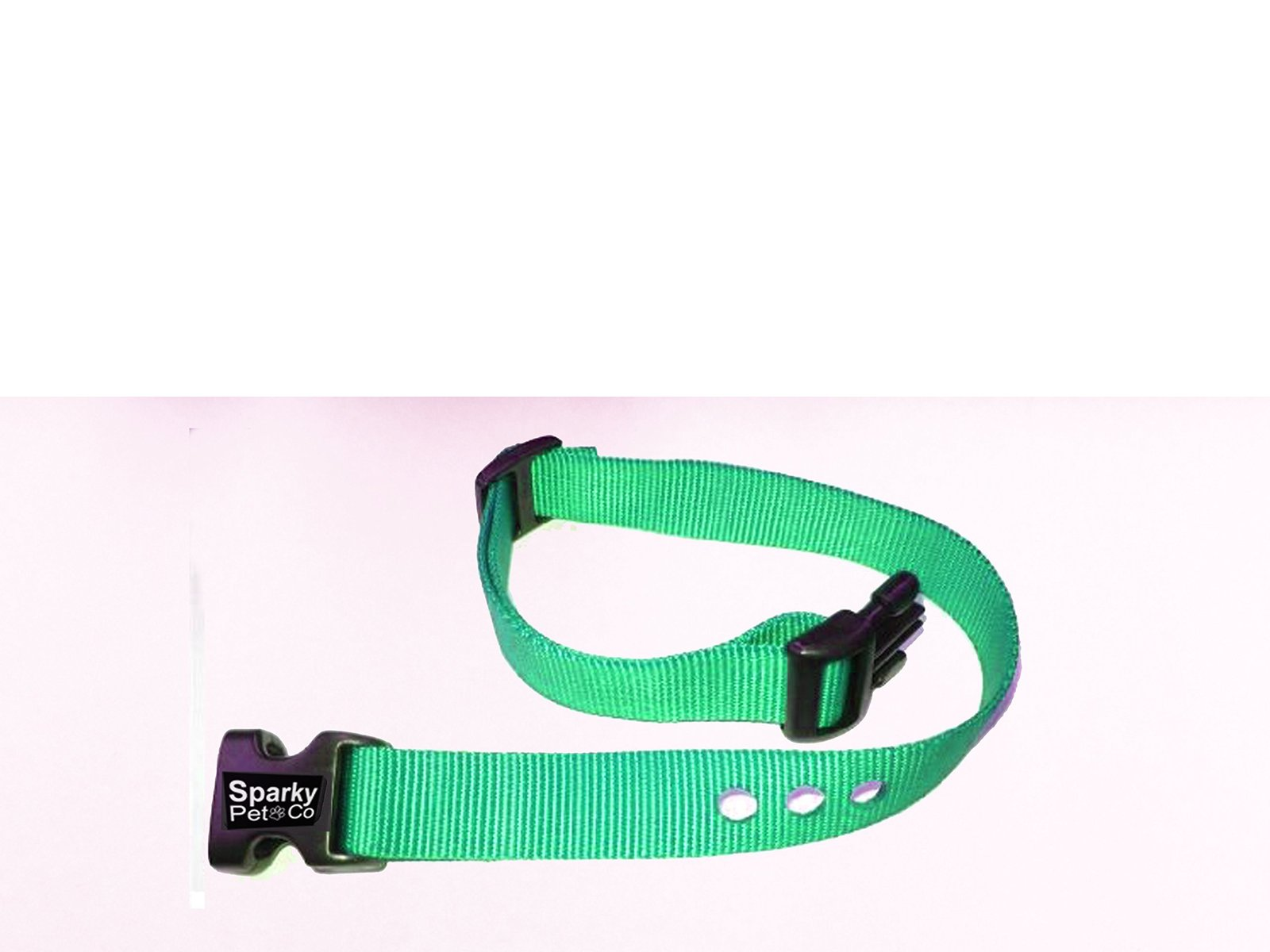 "Dog Fence Receiver Heavy Duty 1"" Nylon 3 Hole Replacement Strap, Teal"