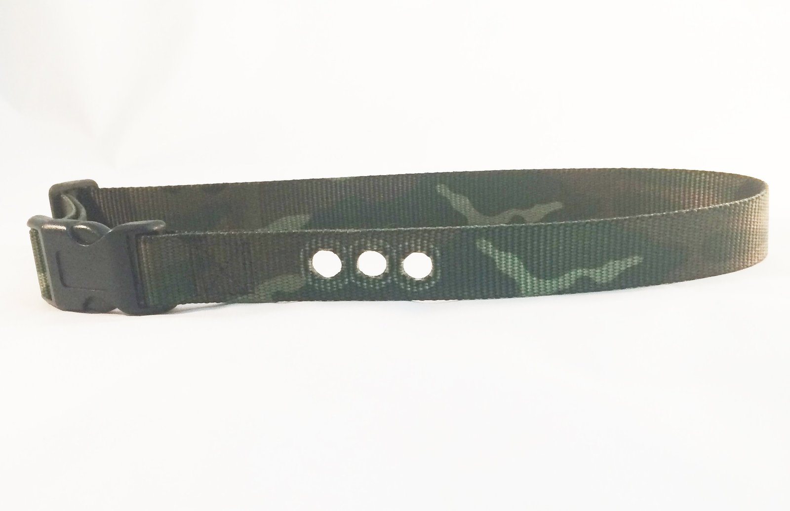 "Sparky PetCo 3/4"" Petsafe Compatible Replacement 3 Hole Dog Strap CAMO GREEN"