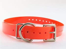 Collar with Roller Buckle and Nickel Hardware Color: Orange - $13.49
