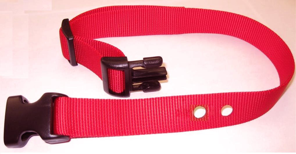 "Perimeter XXS Dog Fence Replacement Strap 2 Hole 5/8"" Wide-RED"