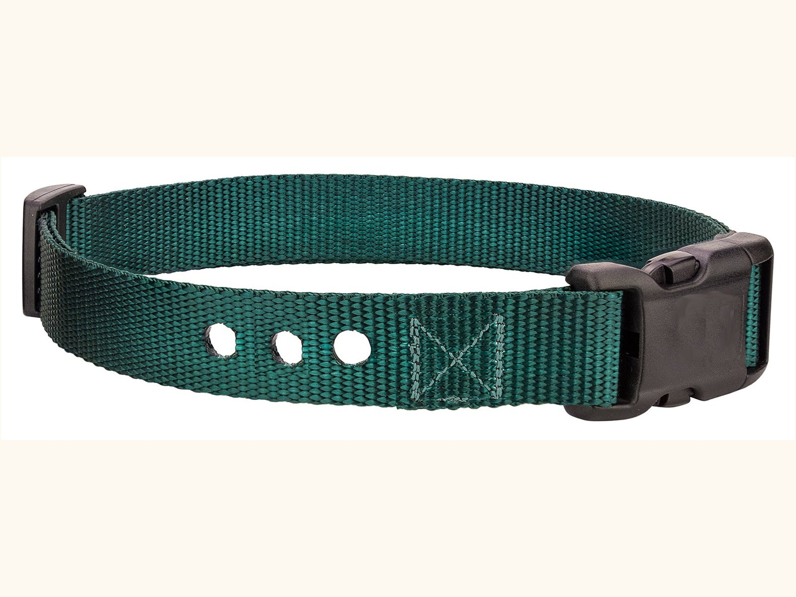 "Sparky PetCo 3/4"" Petsafe Compatible Replacement 3 Hole Dog Strap Green"