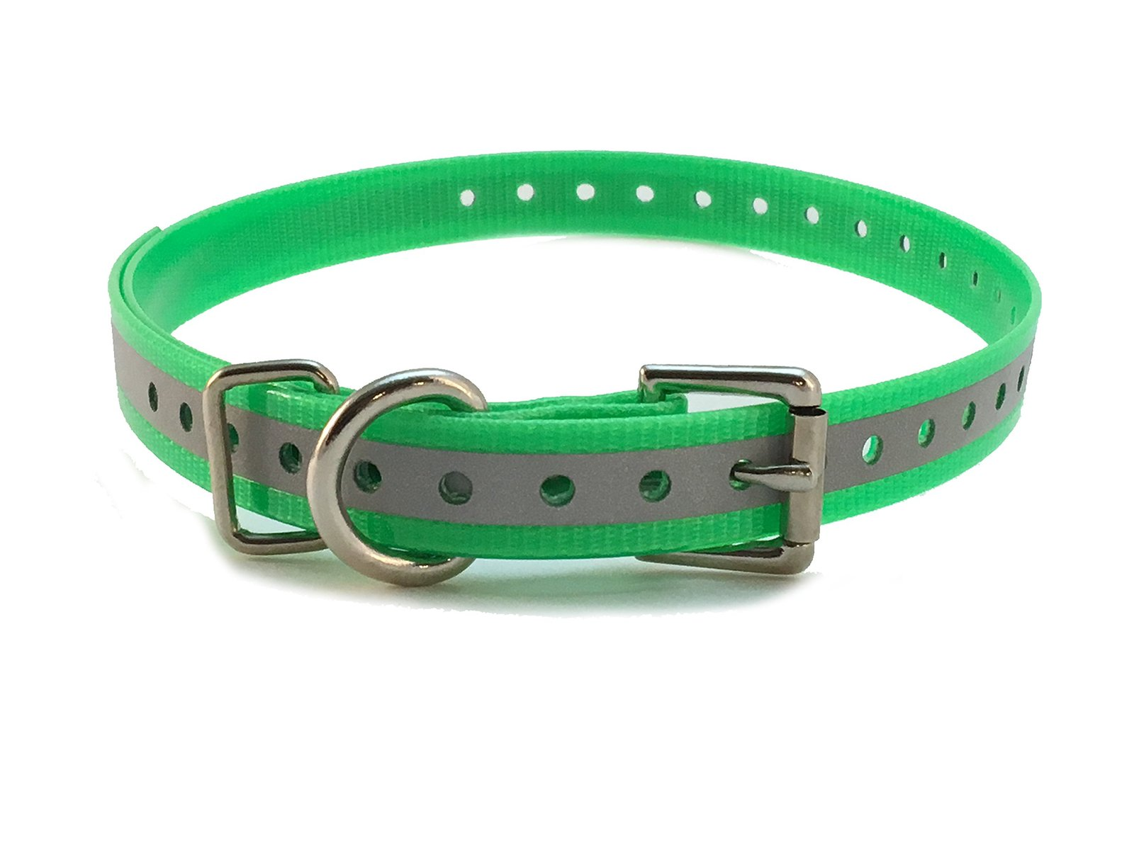 "Sparky PetCo 1"" Roller Buckle High Flex Reflective Green Waterproof Dog Strap..."