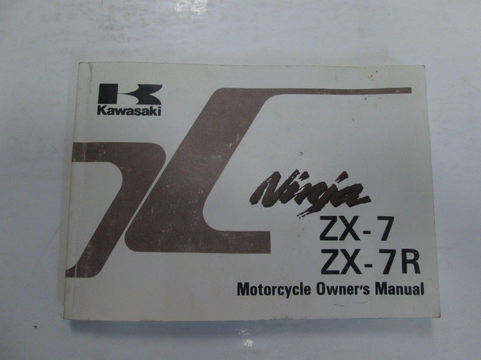 ... 1995 Kawasaki Ninja ZX-7 ZX7 ZX-7R ZX7R Motorcycle Owners Manual WORN  FADED ...