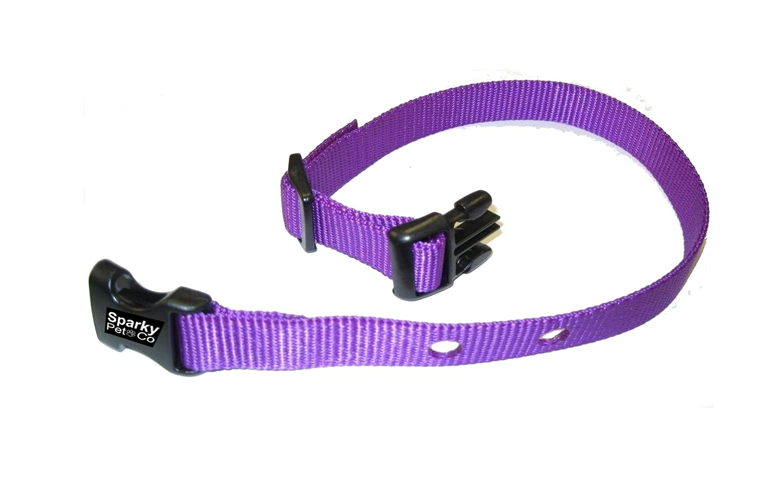 "Sparky PetCo PetSafe Compatible Replacement Strap with holes 1.25"" Apart, Purple"