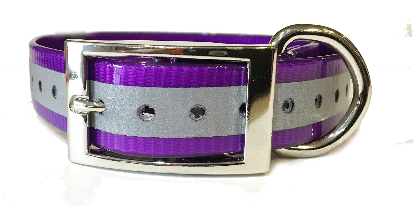 "SparkyPetCo 1"" Square Buckle High Flex Reflective Dog Strap For Garmin Dogtra..."