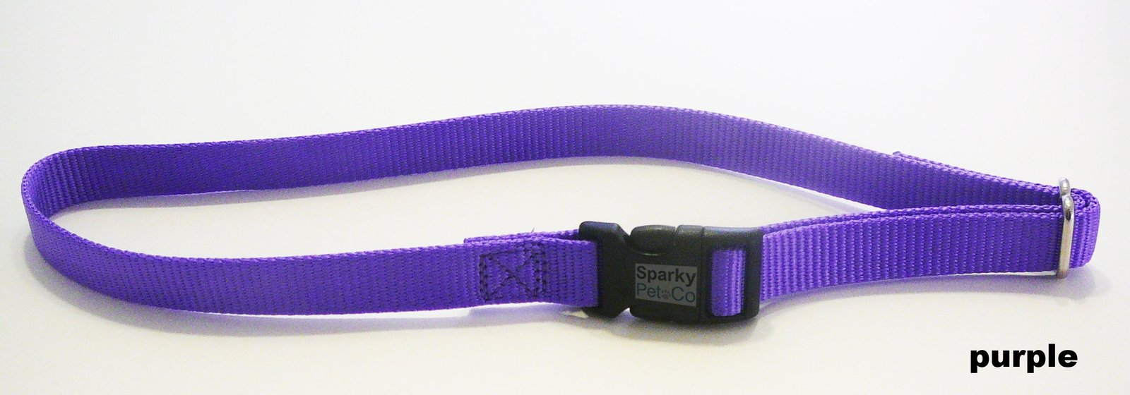 "Dog Fence Receiver Heavy Duty 1"" SOLID No Hole Nylon Replacement Strap, Lavender"