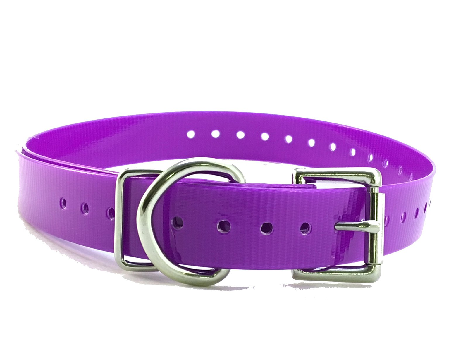 Dogtra Compatible 3/4' High Flex Waterproof Roller Buckle Dog Strap, Purple