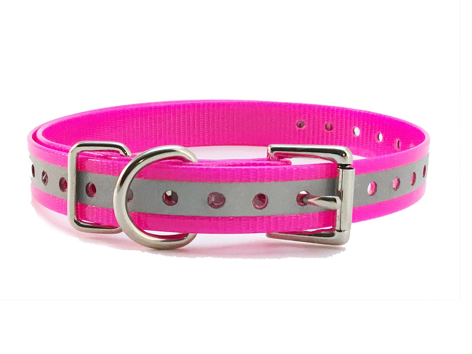 "Sparky PetCo 1"" Roller Buckle High Flex Reflective Pink Waterproof Dog Strap ..."