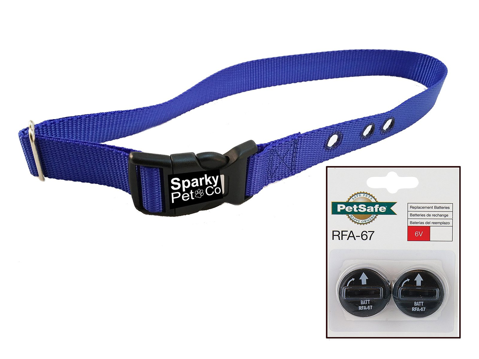 "Sparky PetCo PetSafe IF Compatible 3/4"" BC103 Replacement Bark Collars with 2..."