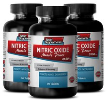 Nitric oxide dietary supplement - Nitric Oxide Muscle Power 3150mg - Bui... - $39.95