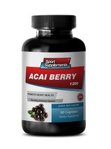 Premium Dietary Supplement Acai Berry - Acai Fruit (4:1) Concentrate 1200mg -... - $14.95