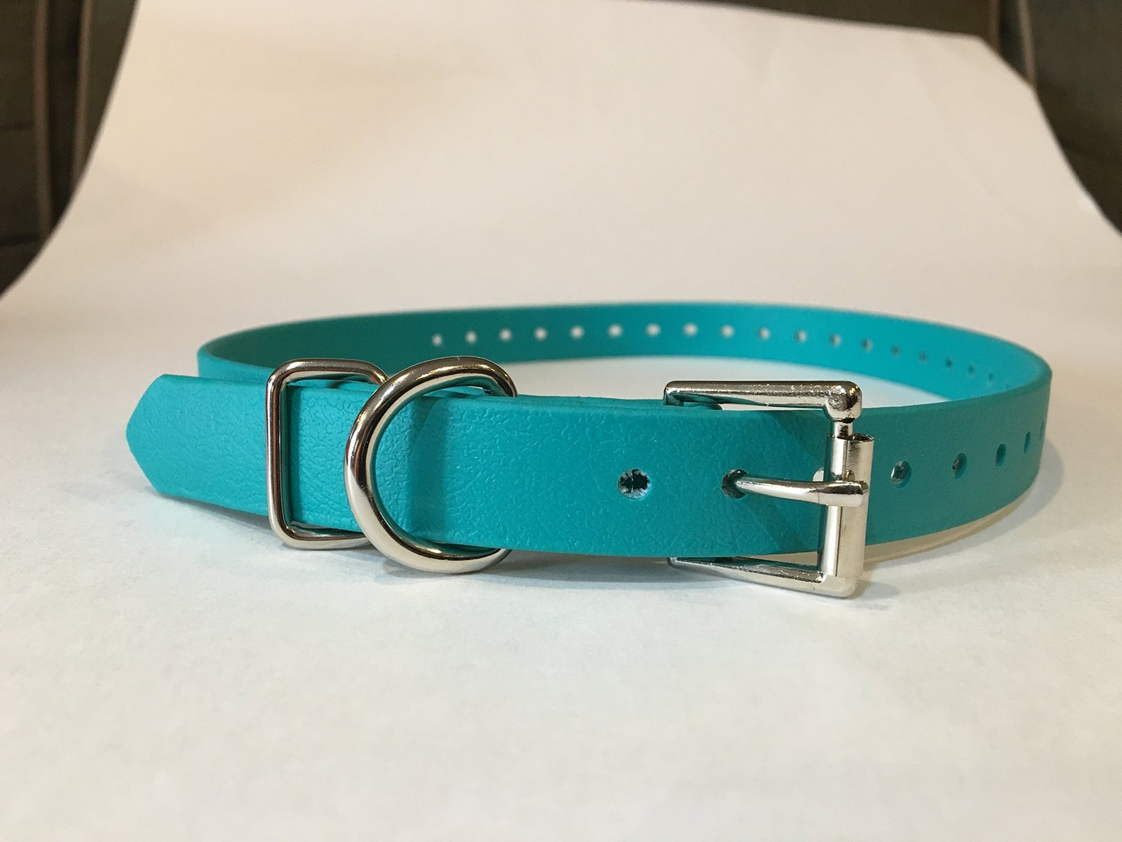 "Sparky PetCo 3/4"" Teal Biothane Replacement Square Buckle Dog Collar for Garm..."