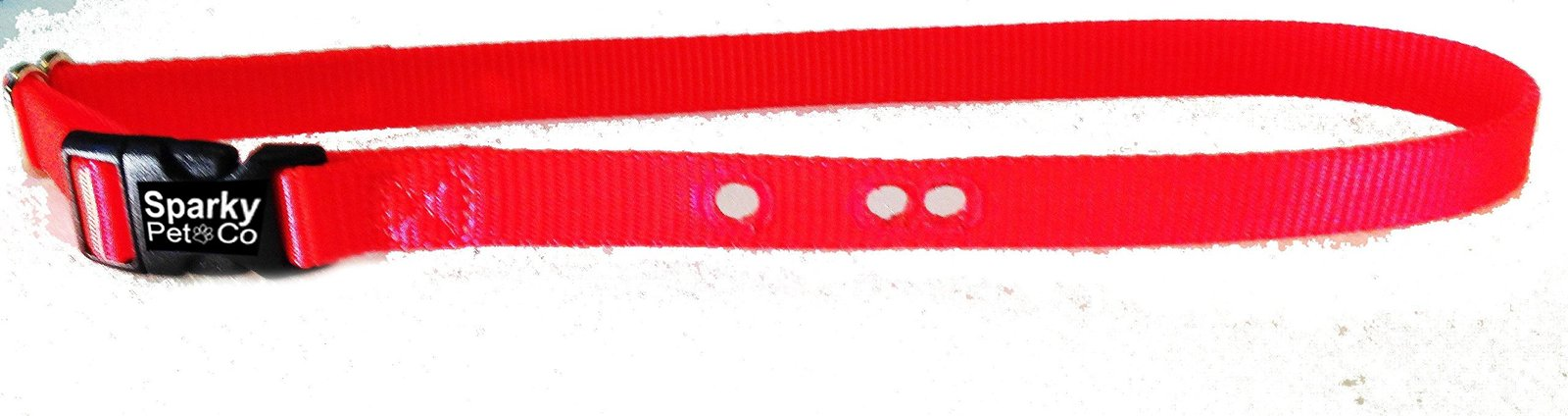 "Sparky PetCo Petsafe Compatible 3/4"" Neon Orange 3 Hole Replacement Dog Strap"