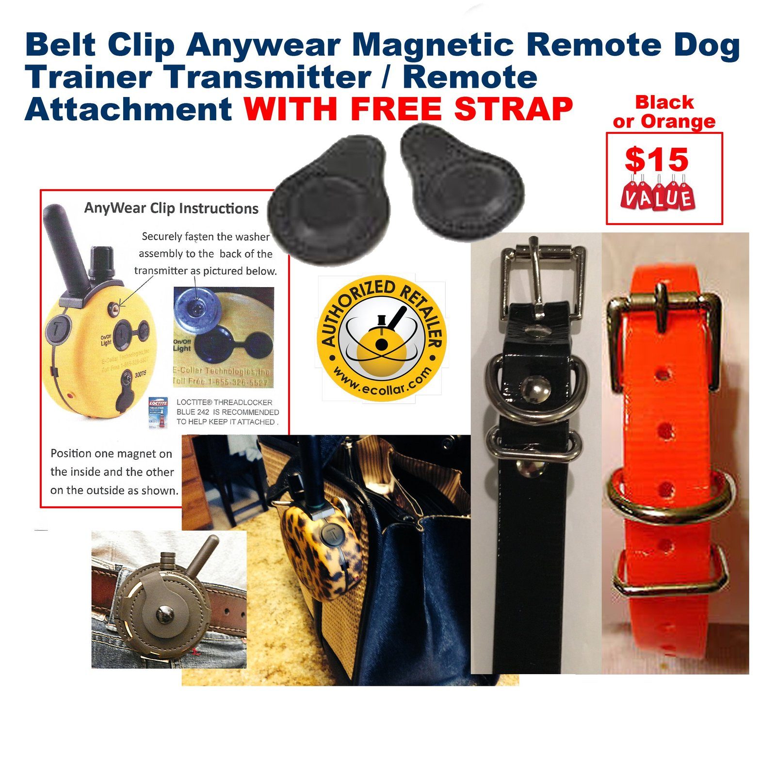 Educator E Collar E Collar Belt Clip Anywear Magnetic Remote Dog Trainer Tran...