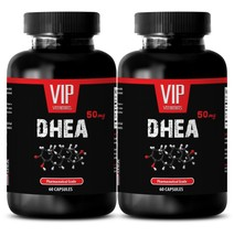 Anti aging natural - DHEA 50 mg - Immunity booster - 2 Bottles 120 Capsules - $23.77