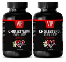 Low cholesterol supplement - CHOLESTEROL RELIEF FORMULA - Blood pressure... - $22.49