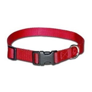 Omni Pet No.100QKN BK 1in Adjustable Nylon Collar Size 18-26in Black