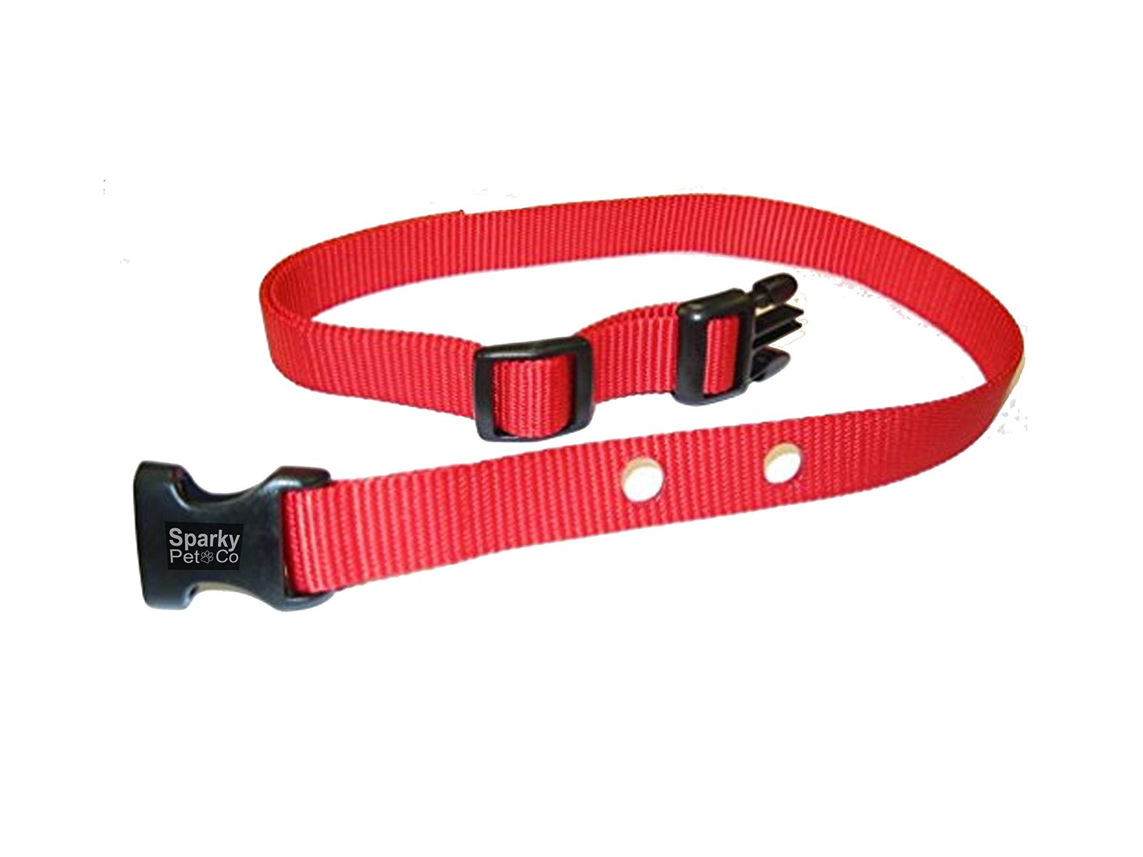 Dog Fence Receicer Heavy Duty Replacement Straps by Sparky PetCo (Red)