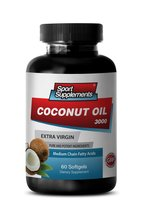 Organic Coconut Oil Caps - Extra Virgin Coconut Oil 3,000mg - Skin, Hair and ... - $14.95