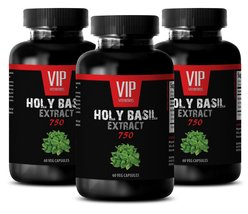Adaptogen - HOLY BASIL EXTRACT 750 - Skin health vitamins - 3 Bottles 18... - $30.33