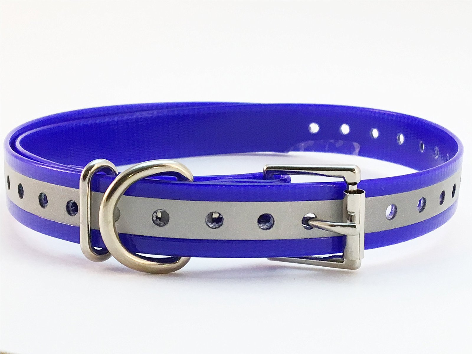 "Sparky PetCo 3/4"" Square Buckle Hi Flex Reflective Strap - Dark Blue"