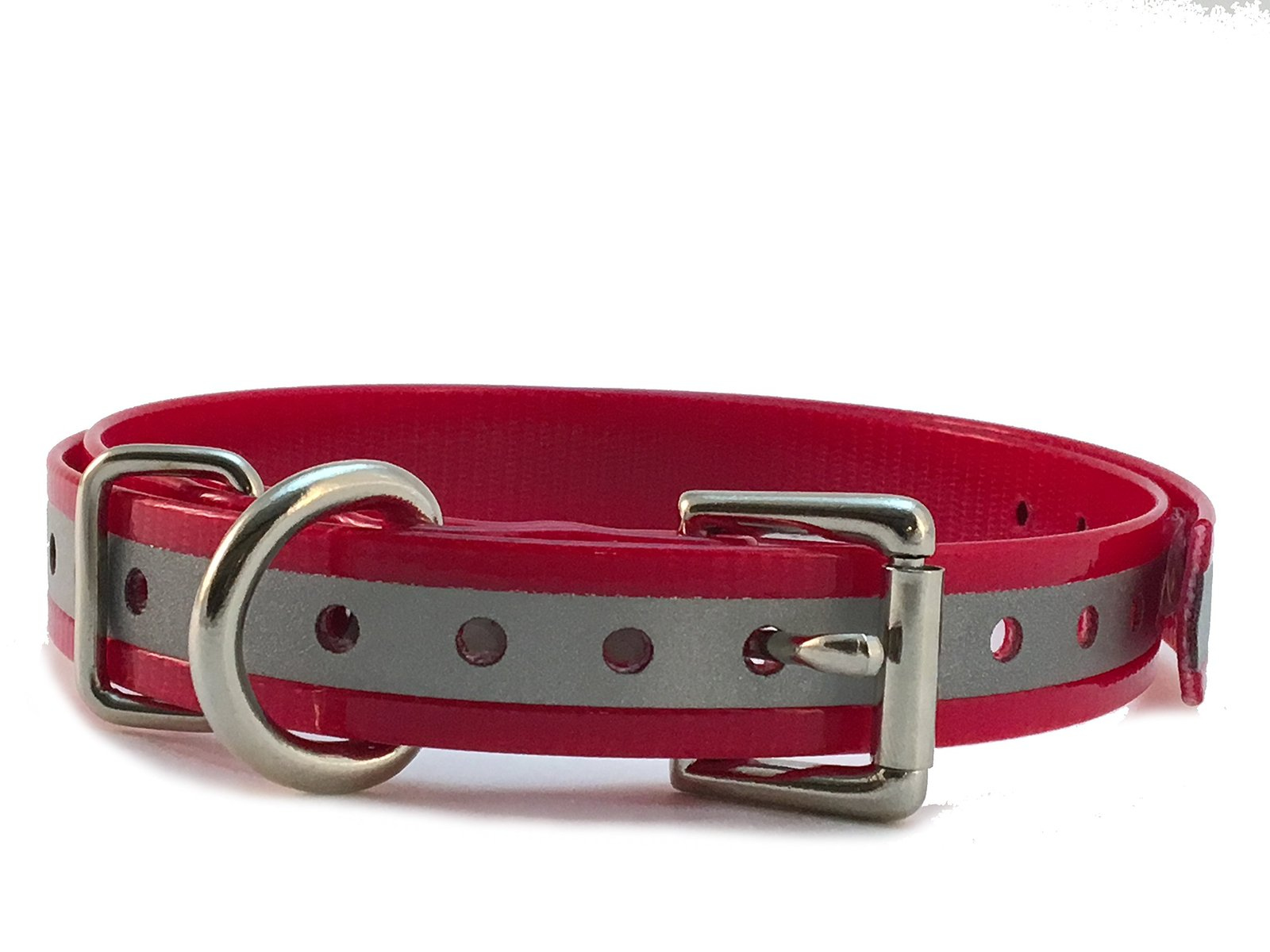 "Sparky PetCo 1"" Roller Buckle High Flex Reflective Red Waterproof Dog Strap F..."