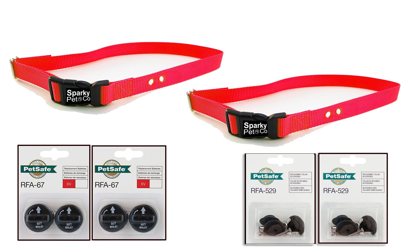 "Sparky PetCo Petsafe Compatible Replacement (2) 1"" Heavy Duty Dog Straps with..."
