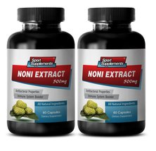 Morinda noni - NONI EXTRACT 500mg - Detox and cleanse - 2 Bottles 120 Capsules - $20.99