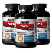 Natural Omega 3 - Omega 8060 - Keep the Skin Looking Younger with Fish Oil (3... - $33.99