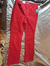 """Ralph Lauren Red Corduroy Pants Womens Size 10 - 32"""" length - New w/ Tags - $15.99"""