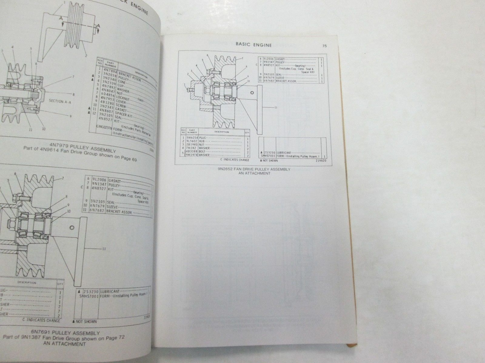 ... Caterpillar 3208 Truck Engine Parts Book Manual 40S1-UP UEG0894S DAMAGE  STAINS