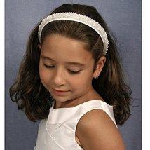 Bonnie Jean Girls 2-Way Sequin Pearl Encrusted Detachable Veil Headband  image 3
