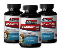 Fractionated Coconut Oil - Extra Virgin Coconut Oil 3,000mg - Coconut Oil to ... - $34.95