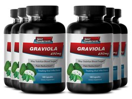 Paw paw fruit extract - Graviola 650mg - High in vitamins (6 Bottles - 6... - $65.95
