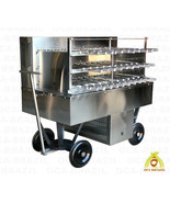 BRAZILIAN CHARCOAL GRILL 32 SKEWERS - PROFESSIONAL GRADE - CATERING MASTER - $5,480.50