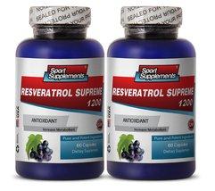 Resveratrol Supreme 1200mg Maximum Strength Plu... - $25.95