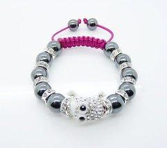 European Style Charm Bracelet Murano glass beads 4b - $24.99