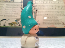 White Body Green Hat Snow Flake Handmade Resin Mini Figurine Bea Wee's image 4