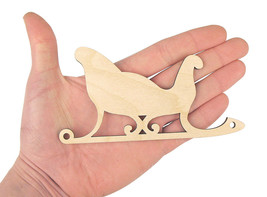 Wooden Sled Shape (14cm) Christmas Sled Art Projects Craft  Decoration M... - $0.99