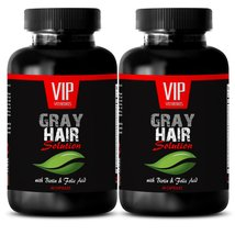 Biotin Vitamins - Gray Hair Solution - Hair skin nails vitamins (2 Bottl... - $24.45