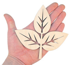 5x Wooden Feather 16cm Shape Art Projects Craft  Decoration Gift Decoupage