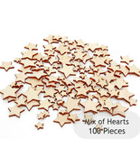 Set of 100 Wooden Stars Mix (1 to 2,5cm), Unpainted Shape Craft Gift,  MG000013 - $5.95