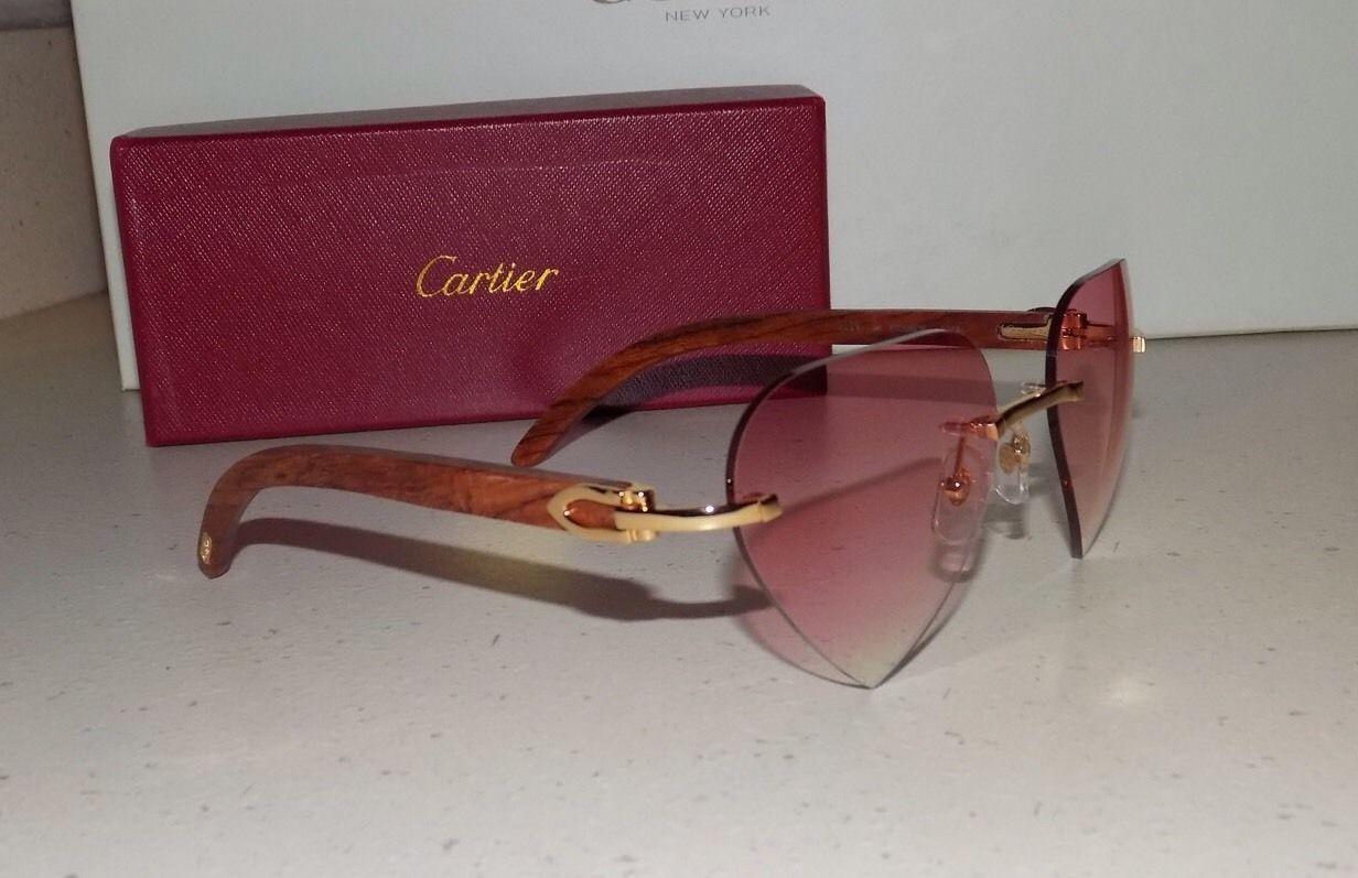 d9669309c3fc Cartier Bubynga Wood Custom Pink Heart Lens and 36 similar items