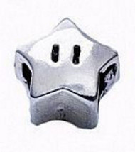 Super Mario Star power Real Genuine Sterling silver 925 jewelry European bead - $14.84