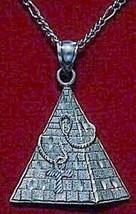 Cobra Ankh Egyptian Silver Egypt Pendant Pyramid Charm - $28.91