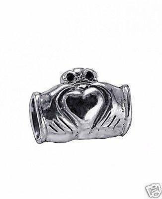 Celtic Claddagh Charm Sterling silver 925 European bead