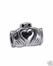 Celtic Claddagh Charm Sterling silver 925 European bead - $25.54