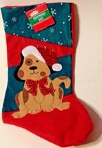 Christmas Stocking For Your Dog Felt Applique New - $6.88